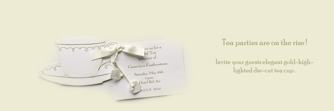 Die-cut tea cup  Invitation Cards for Tea Party