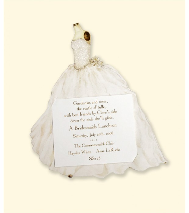 Bridal Gown With Tulle Card