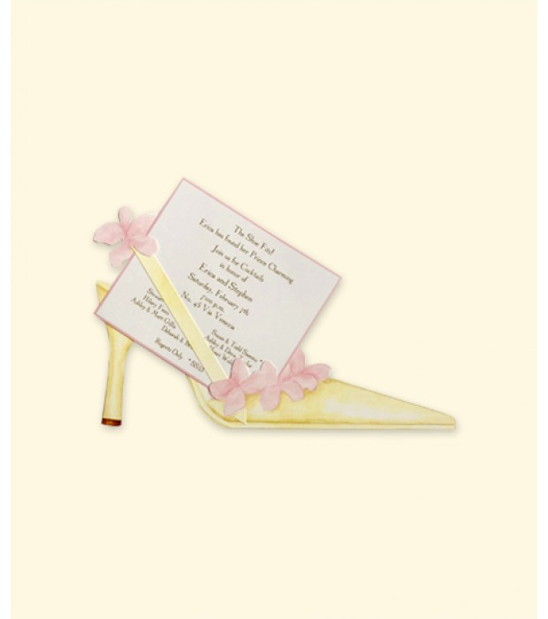 Pink Petal Shoe Place Card