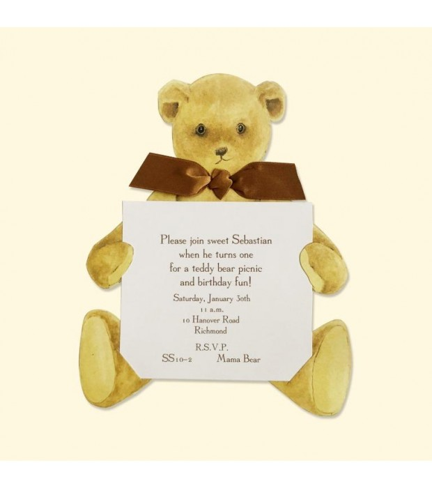 Mini Teddy Bear die cut