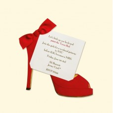 Red High Heel Folding Card