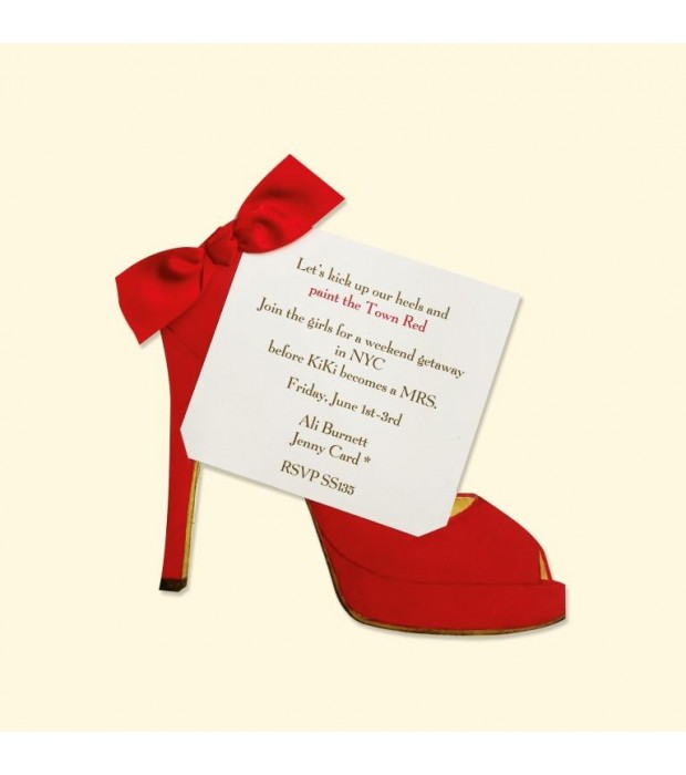 Red High Heel Place Card