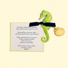 Seahorse Seafoam Card