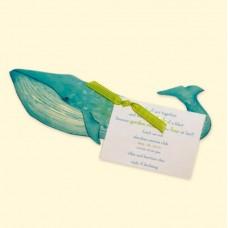 Whale invitation card