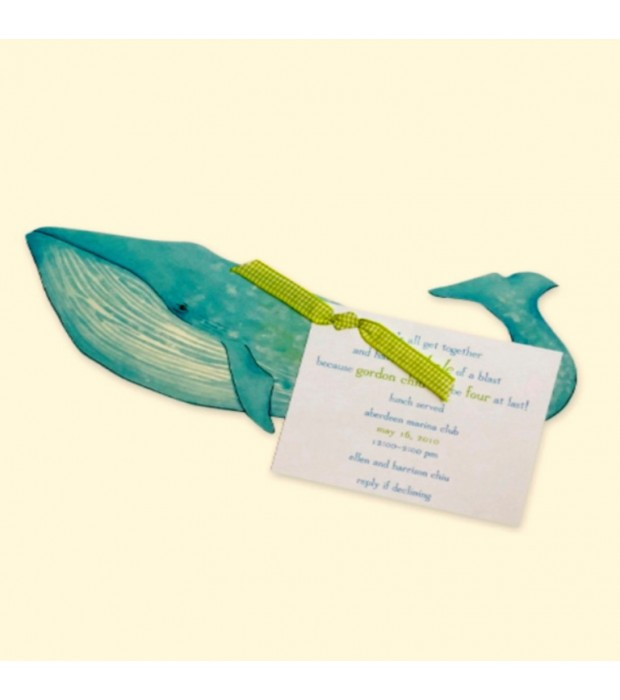 Whale invitation card