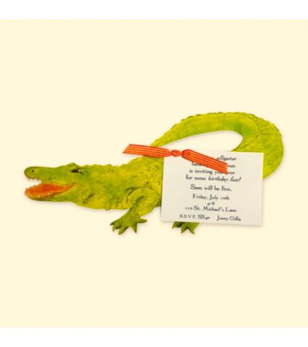 Alligator Invitation Card