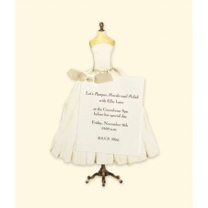 White Wed/Deb Dress Folding Card