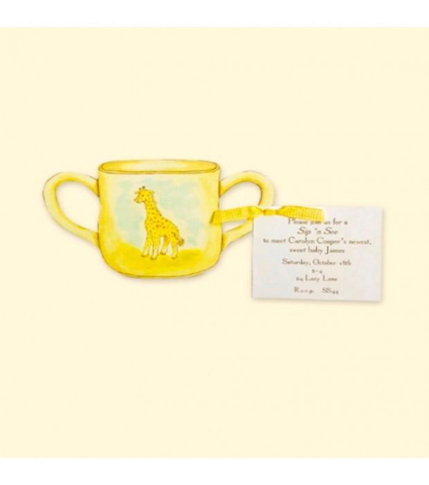 Giraffe Baby Cup card
