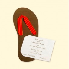 Flip Flop Invitation Card