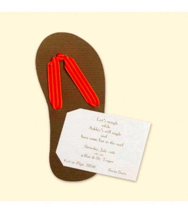 Flip Flop Invitation Card