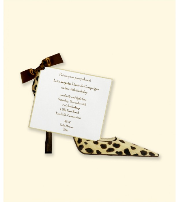 Leopard Shoe Recipe Card