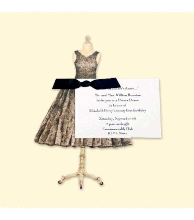 Black Dress invitation