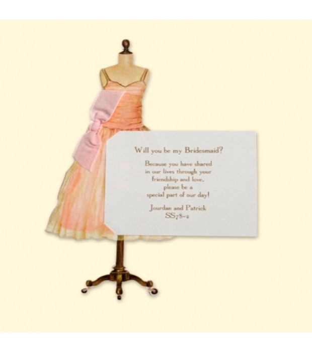 Pink Dress Invitation Card