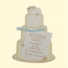 Wedding Cake Invitation Card