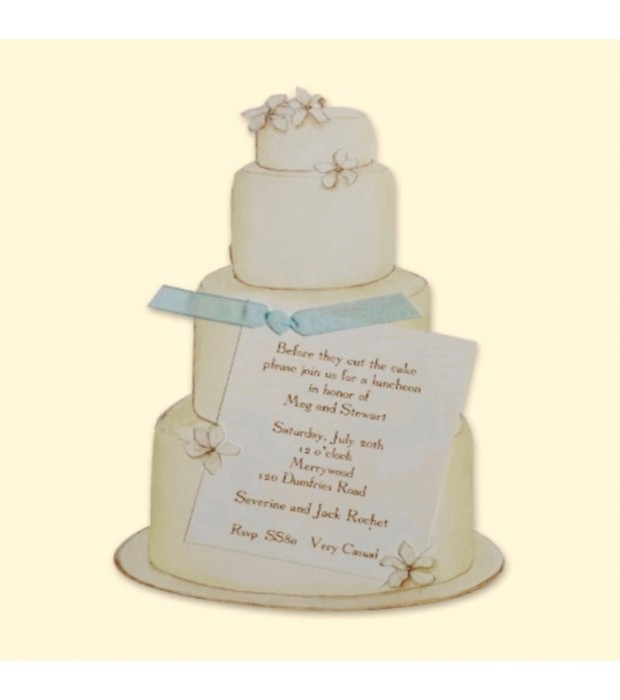 Wedding Cake Invitation Card