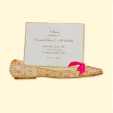 Pink Flat Invitation Card