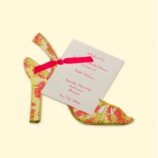 Flower Sandal Invitation Card