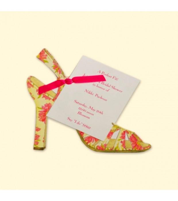 Flower Sandal Invitation Card