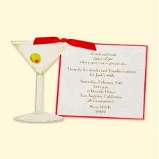 Martini Glass Invitation Card