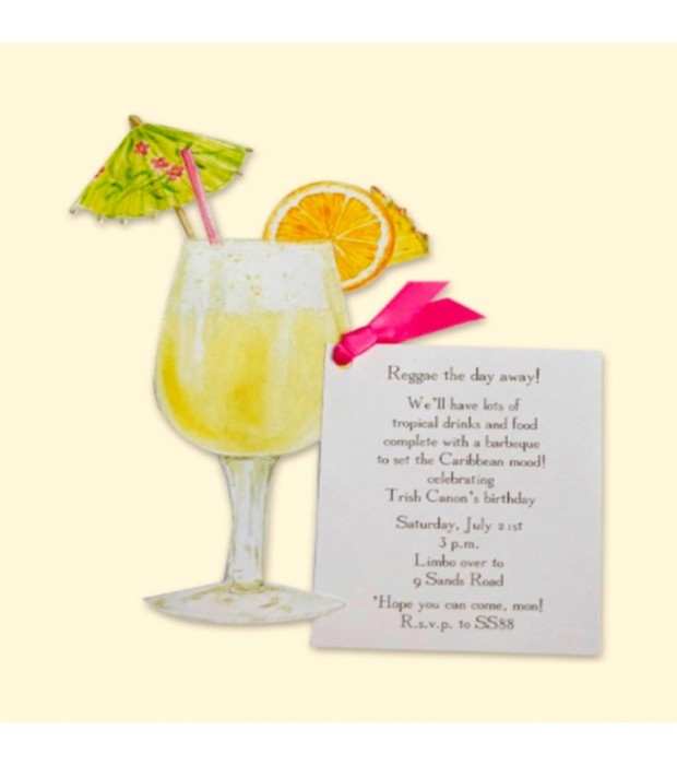 Tropical Cocktail Invitation Card