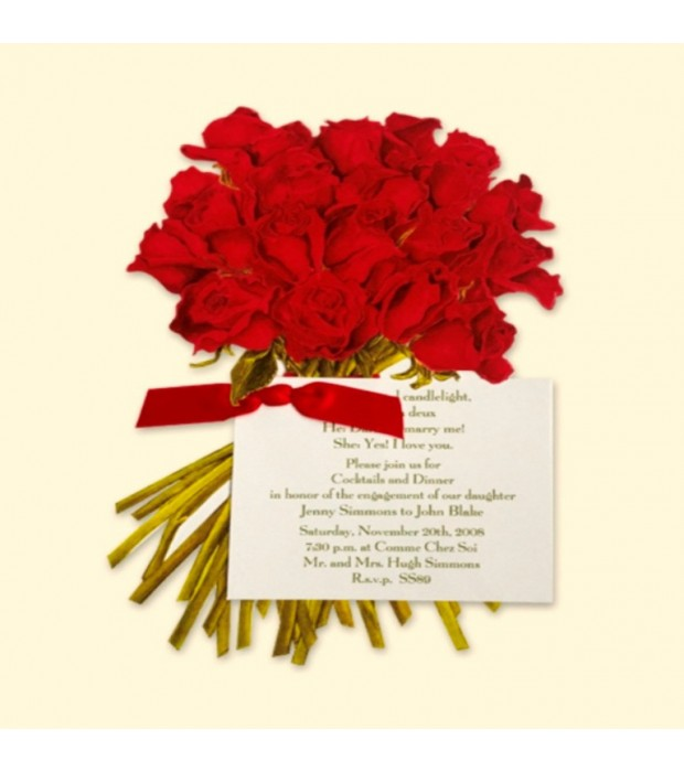 Red Rose Bouquet Card