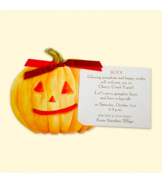Carved Pumpkin Card
